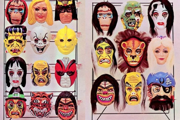 Cheap vintage Halloween masks (2)