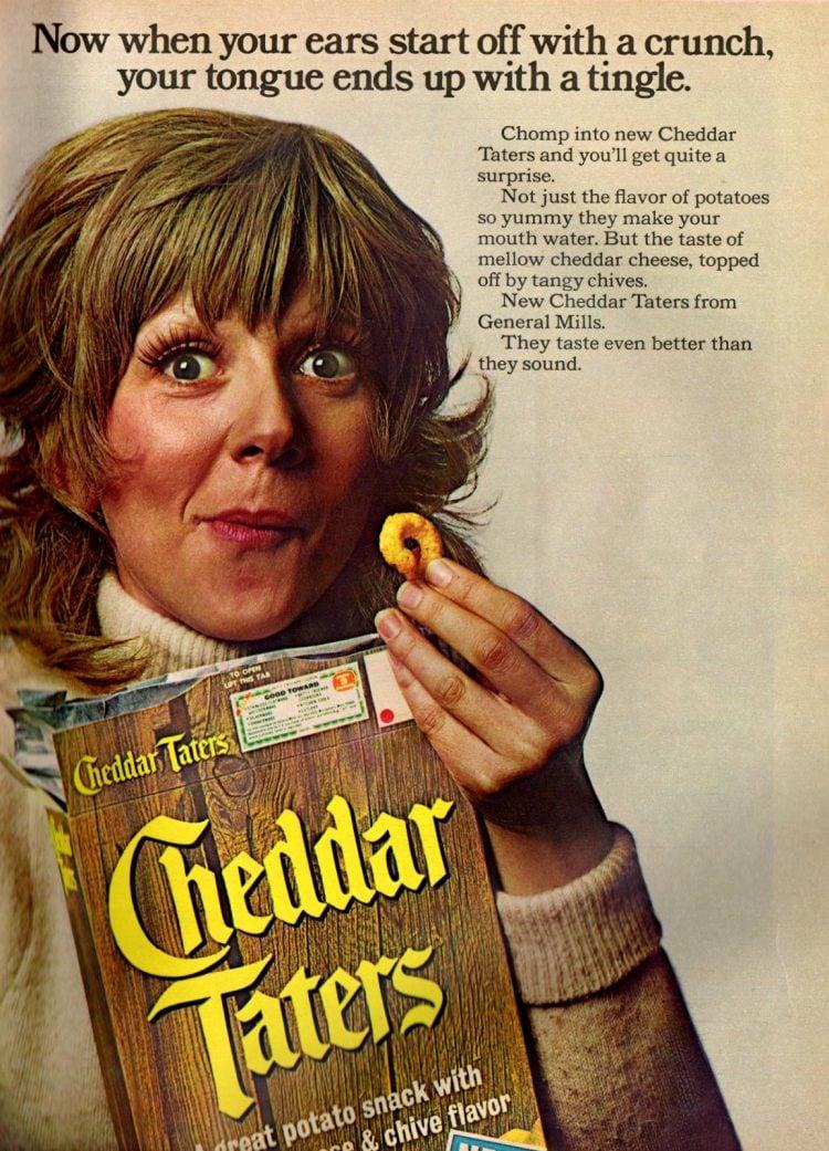 Cheddar Taters potato snacks (1973)