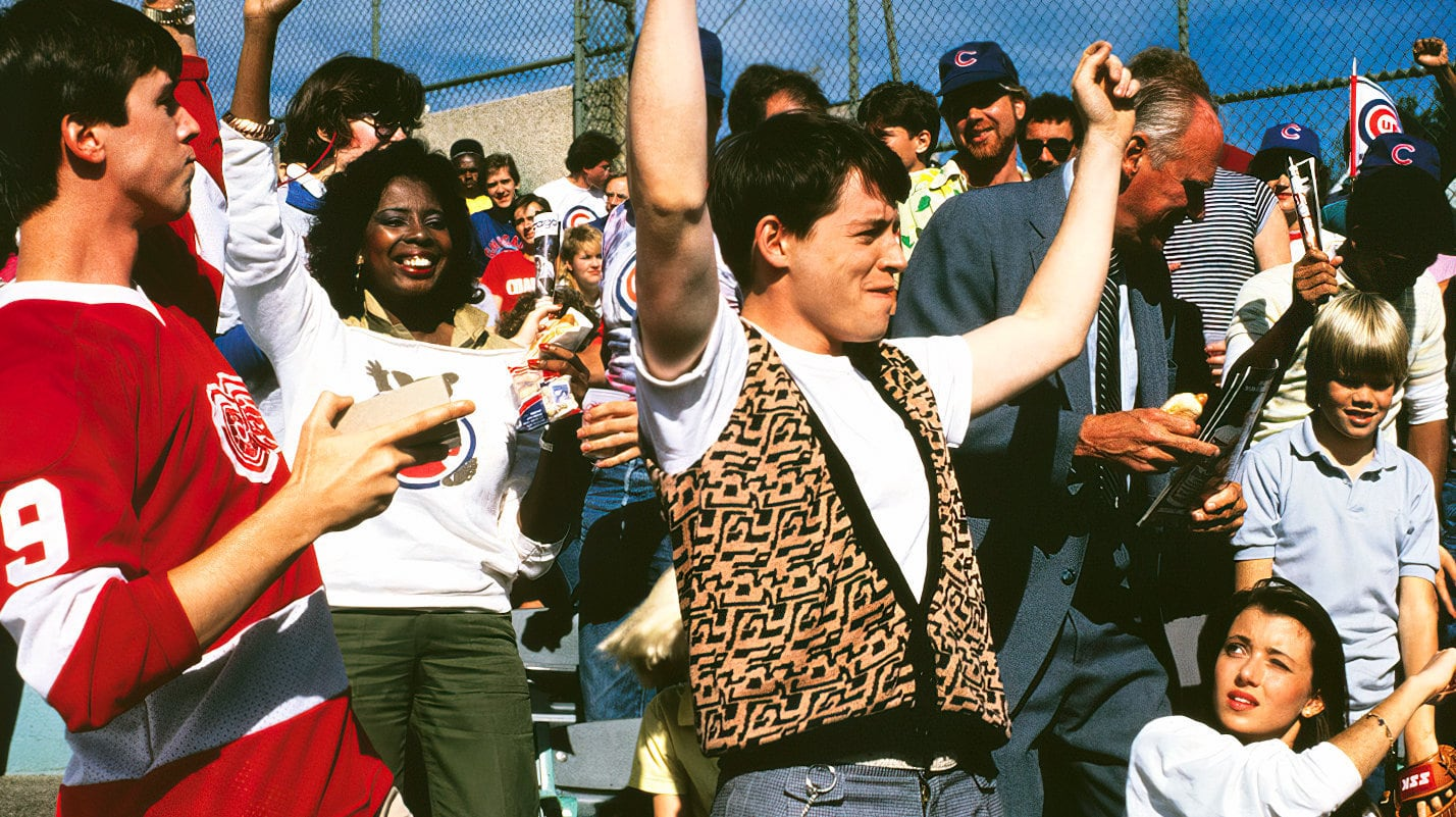 Cheering in Ferris Bueller's Day Off (1986)