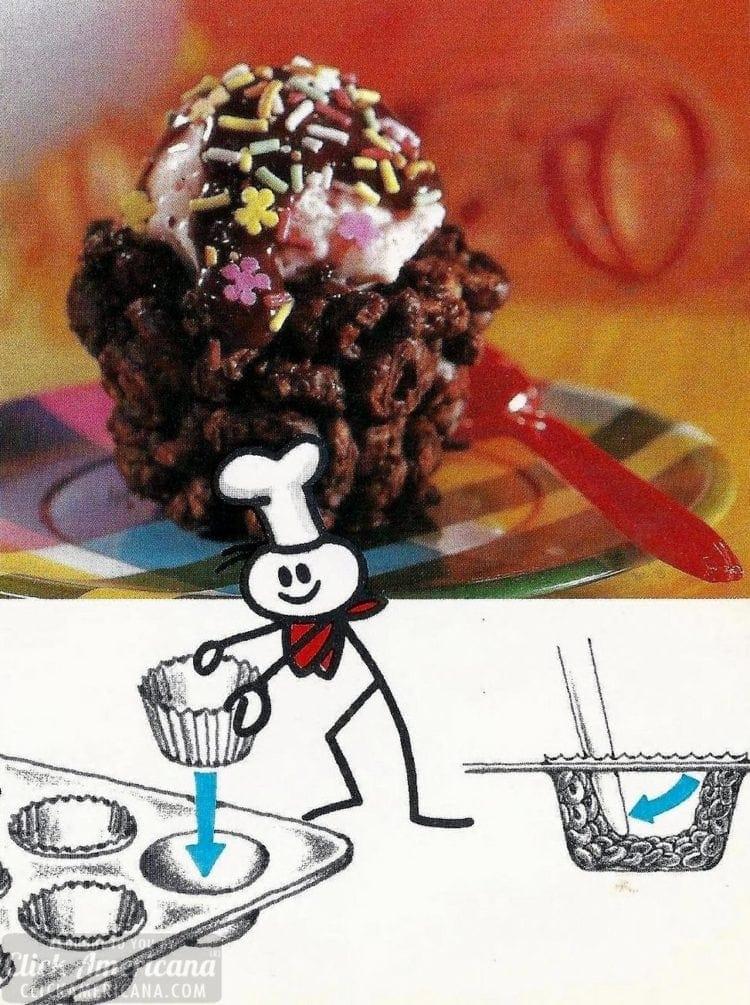 Cheeriodle chocolate ice-cream cups (1980)