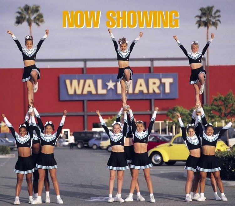 Cheerleaders at Wal-Mart in 1999