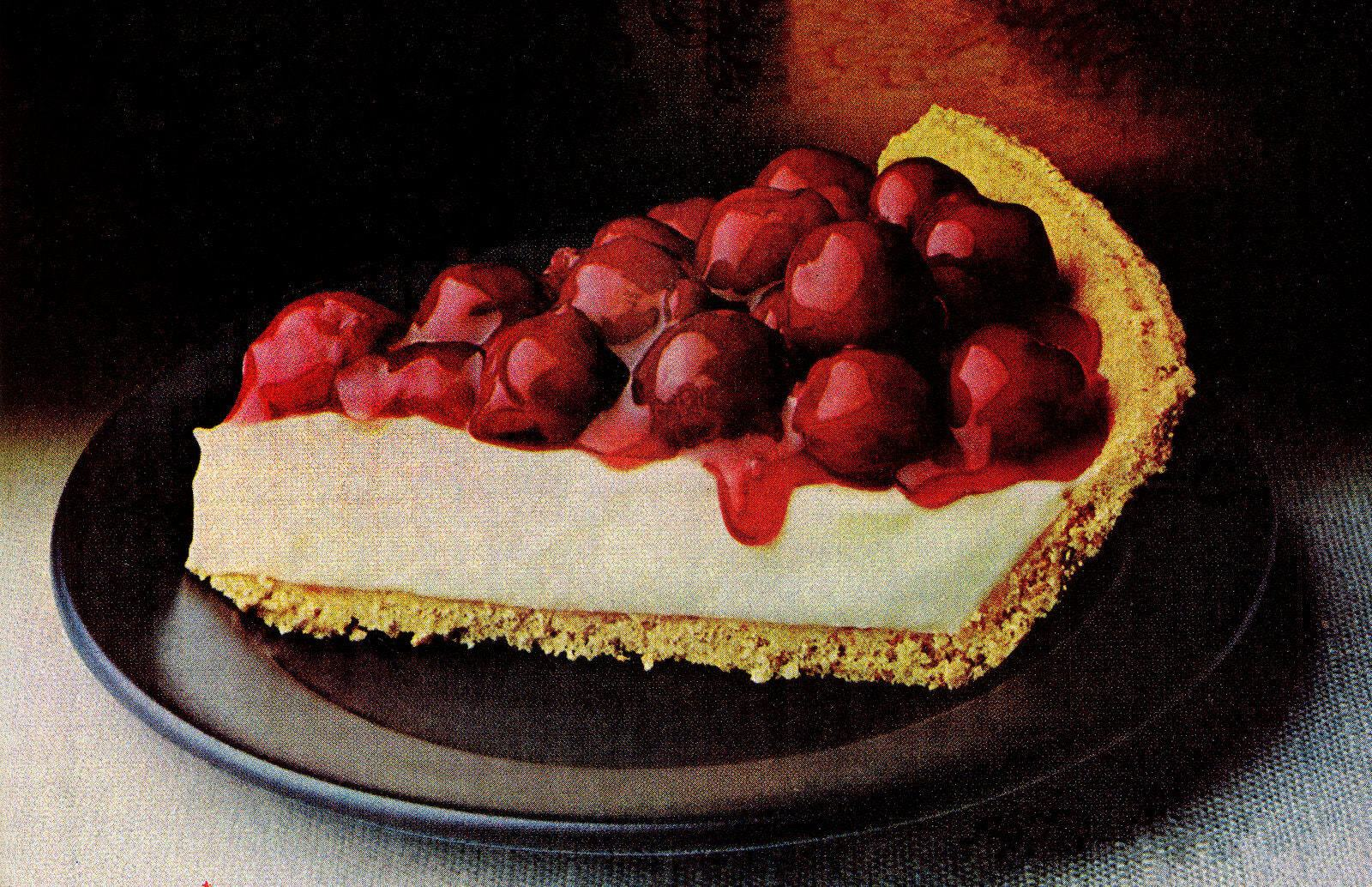 Cheery cherry cheese pie recipe (1978)