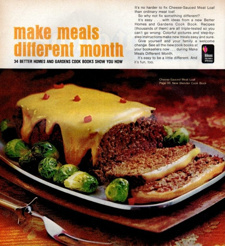 Cheese-sauced meatloaf (1971)