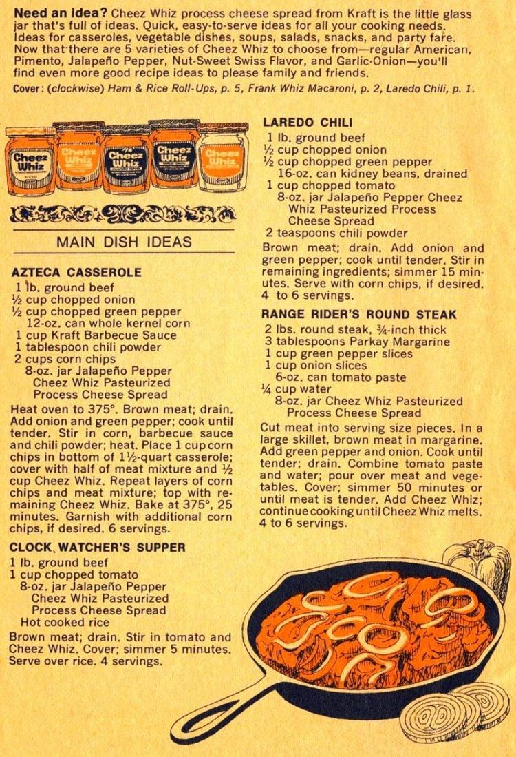 Cheeze Whiz Idea Book recipe book 1974 (7)