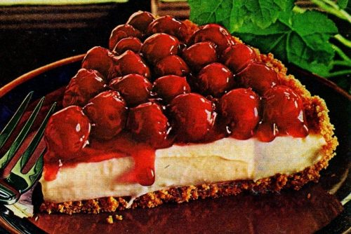 Cherry Breeze cream cheese pie (1974)