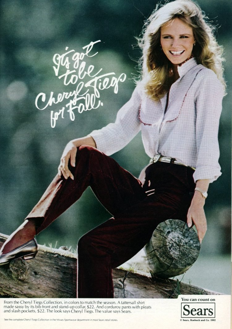 Cheryl Tiegs' clothing collection for Sears in 1982 (1)