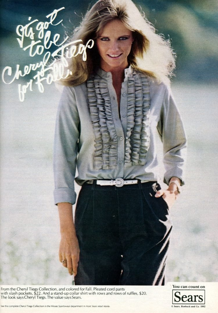 Cheryl Tiegs' clothing collection for Sears in 1982 (2)