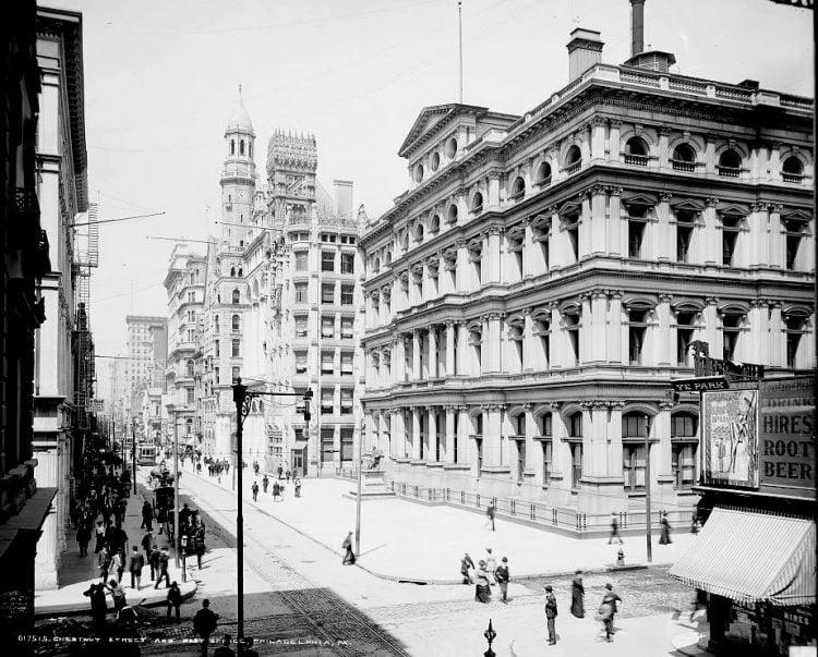 Chestnut Street and post office, Philadelphia, Pa