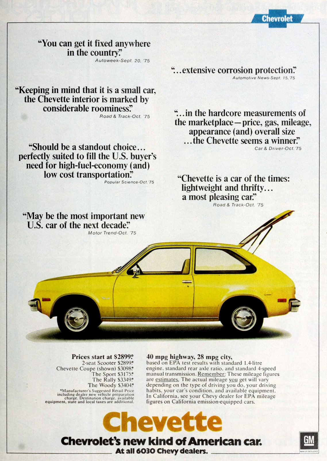 Chevette - Chevrolet's new kind of American car (1976)