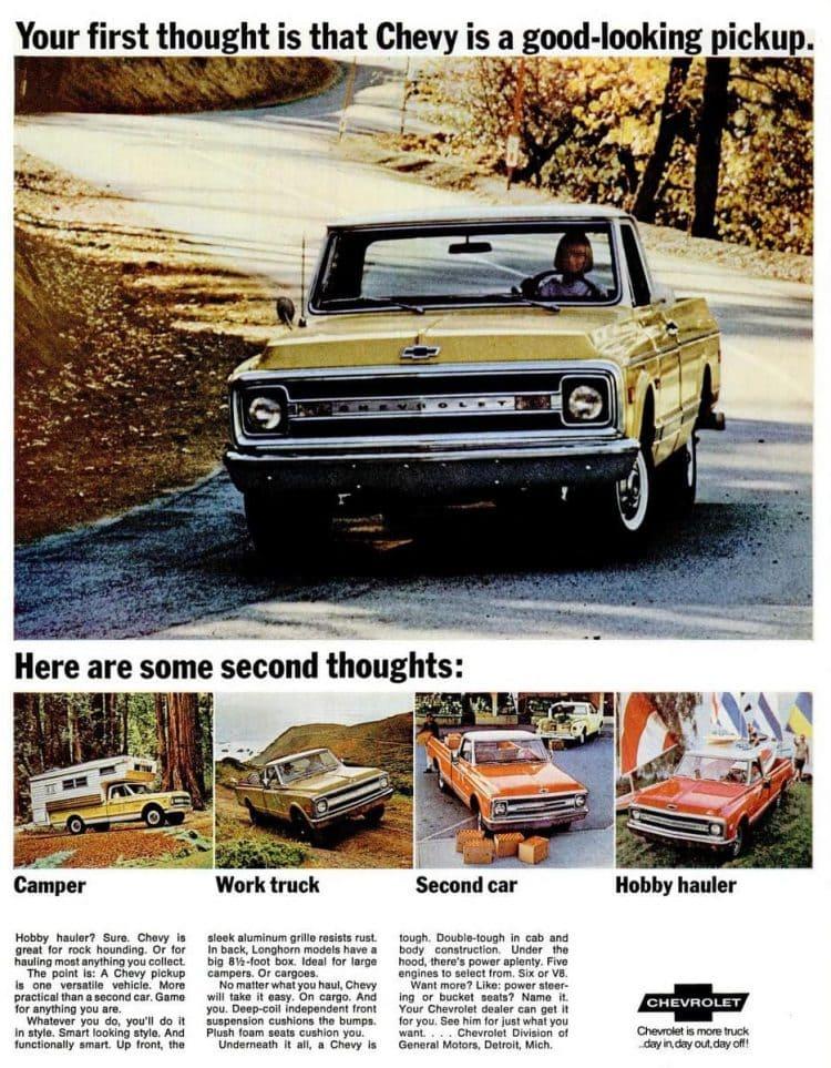 Chevrolet pickup trucks 1969