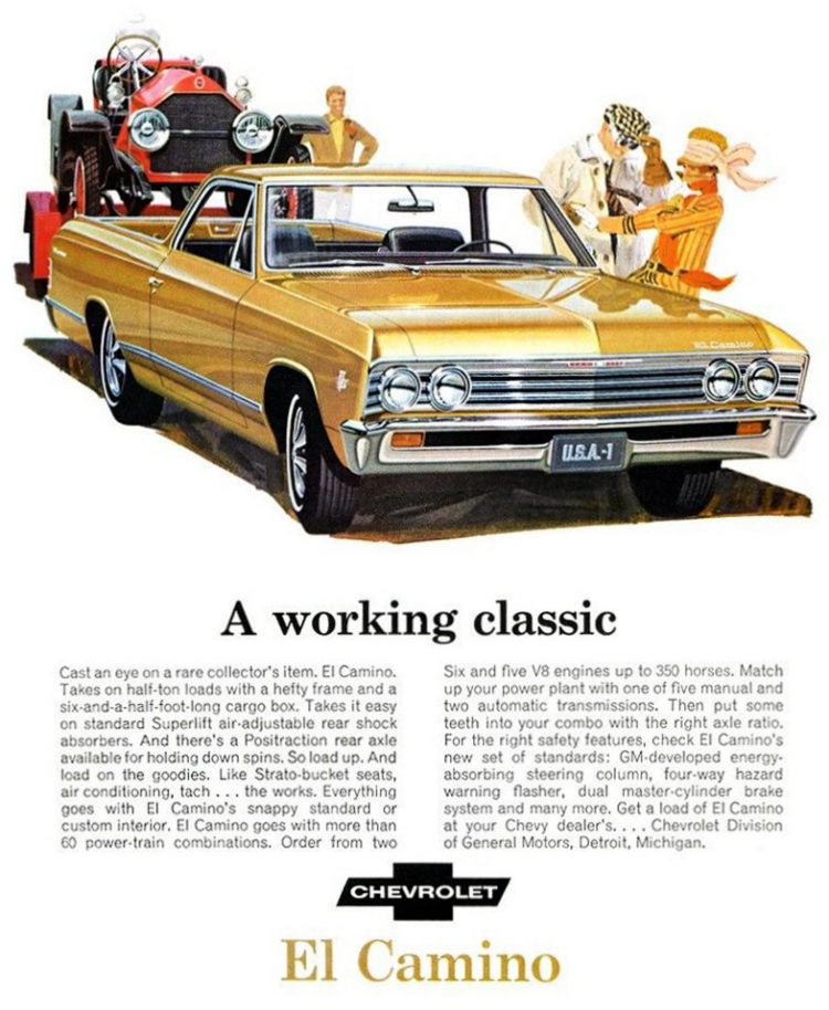 Chevy '67 El Camino pickup truck