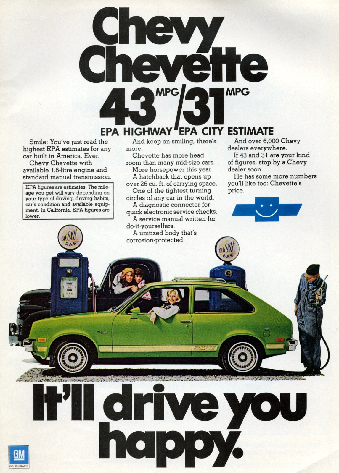Chevy Chevette It'll drive you happy (1977)