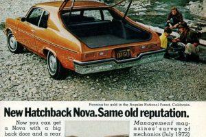 The new Chevy Nova Hatchbacks (1973)