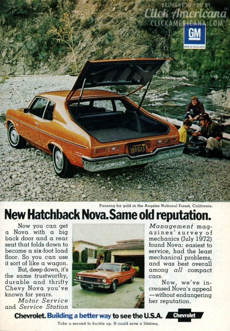 The new Chevy Nova Hatchbacks (1973)