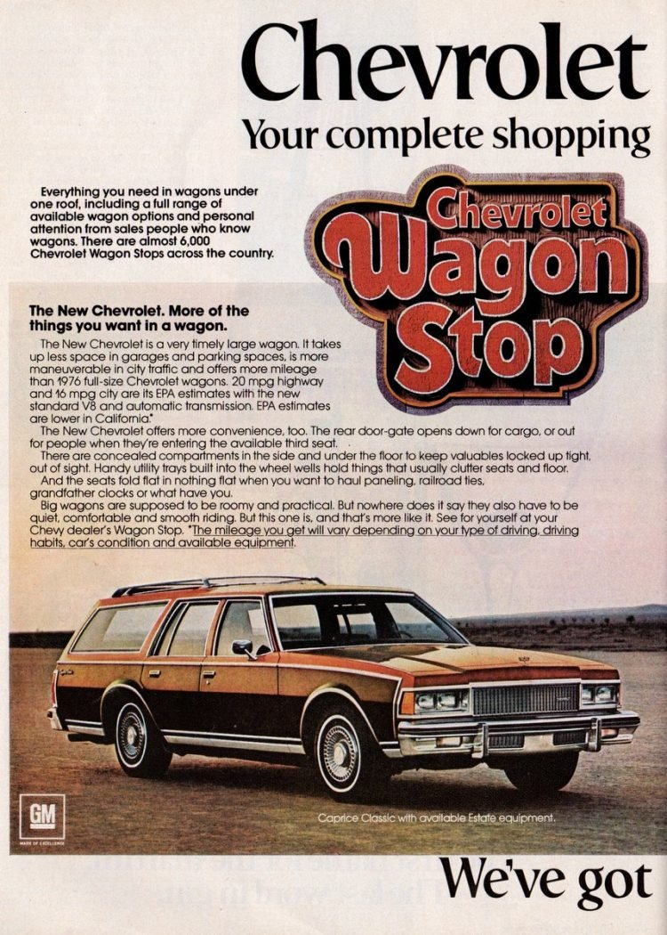 Chevy Vega, Chevelle, Suburban, Sportvan, Blazer (1978)