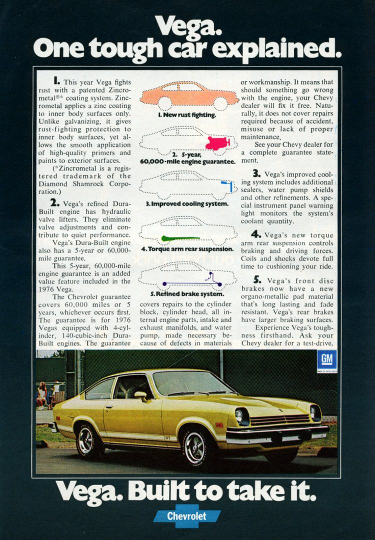 Chevy Vega One tough car explained (1976)
