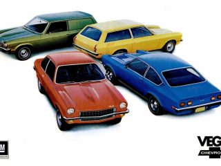 Chevy Vega, the subcompact car from Chevrolet produced from 1970 to 1977