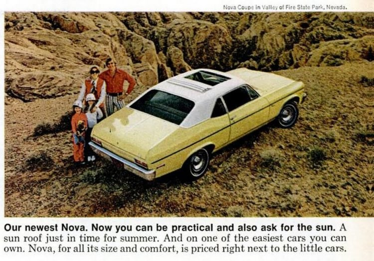 Chevy cars - Summer of 1972