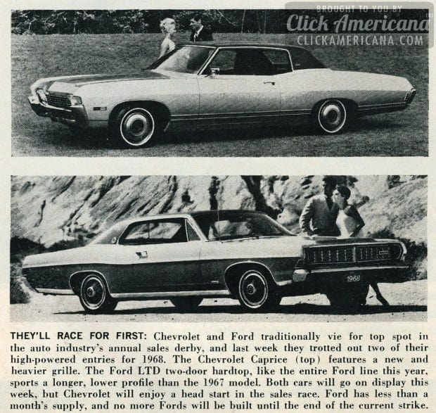 Chevy vs Ford race for first 1967
