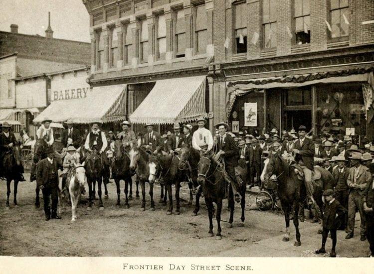 Wyoming Frontier Day street scene