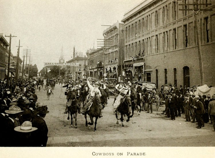 Cowboys on parade