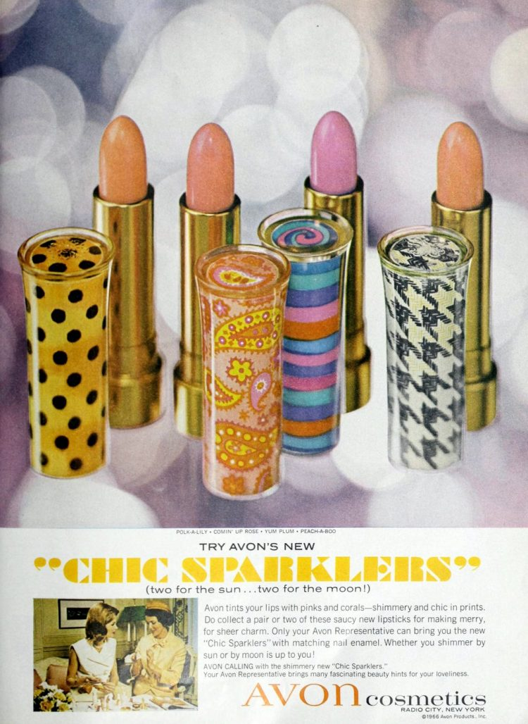 Chic Sparklers lipstick - Avon - 1966