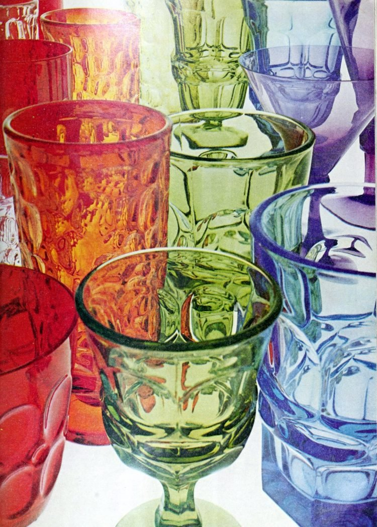 Chic, chunky colored glass from Fostoria (1970)