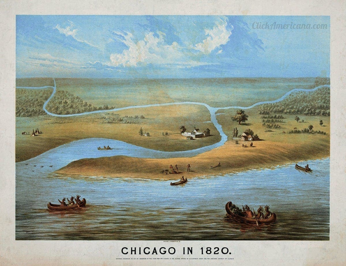 Chicago in 1820