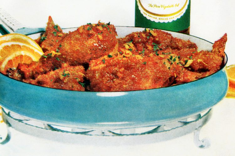 Chicken a l'orange vintage recipe 1961