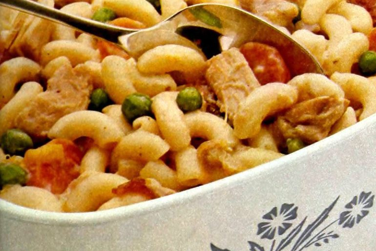 Chicken macaroni casserole retro recipe