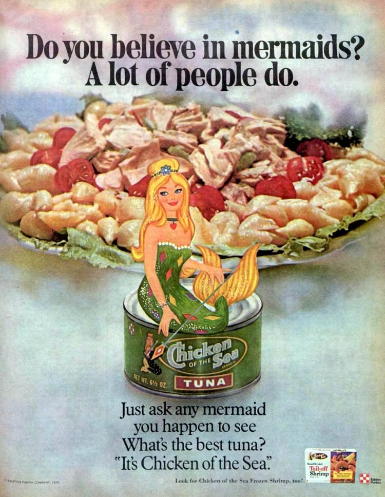 Chicken of the Sea tuna 1971