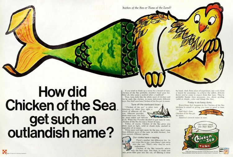 Chicken of the Sea tuna name 1973
