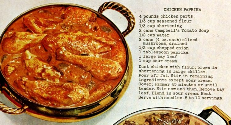 Chicken paprika retro recipe