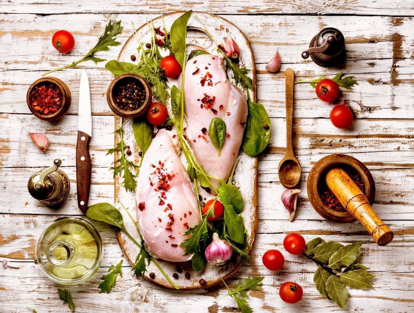 Fresh chicken ready to cook