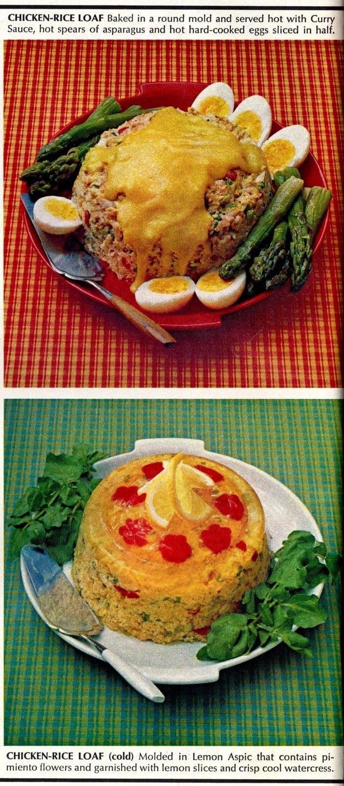 Chicken-rice meatloaf