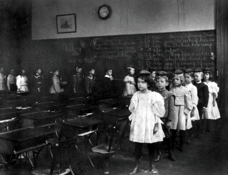 Children marching around the classroom, Washington, D.C