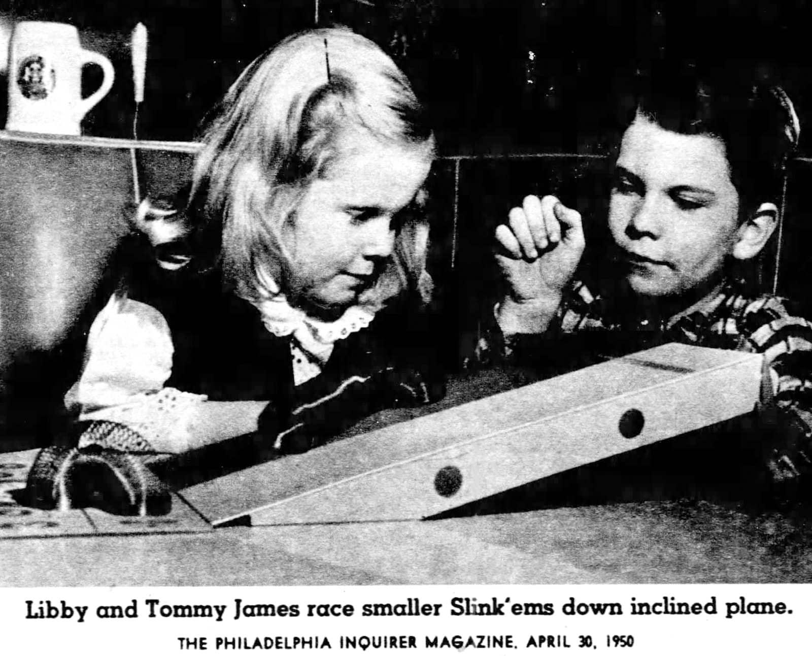 Children of Slinky toy inventor Richard James