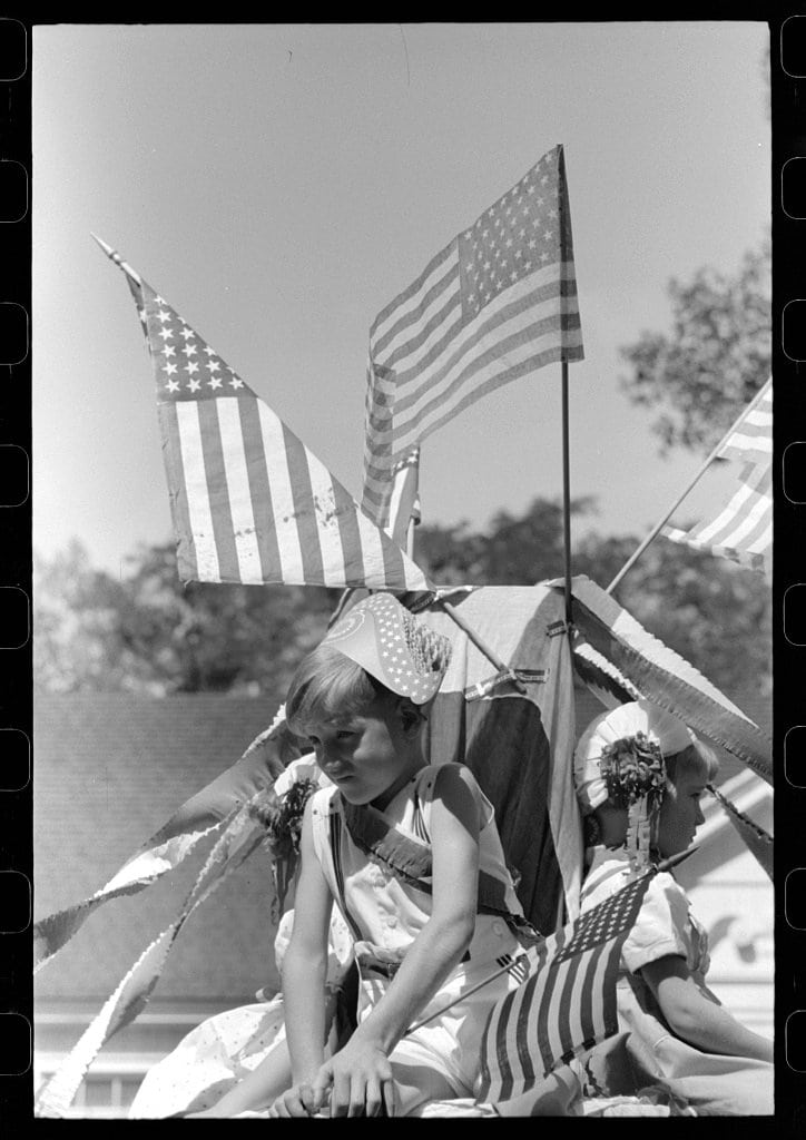 Children on float in Fourth of July parade 1941