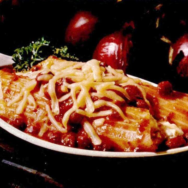 Chili manicotti A retro recipe from the '70s