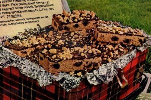 Choco-peanut butter bar cookies (1972)