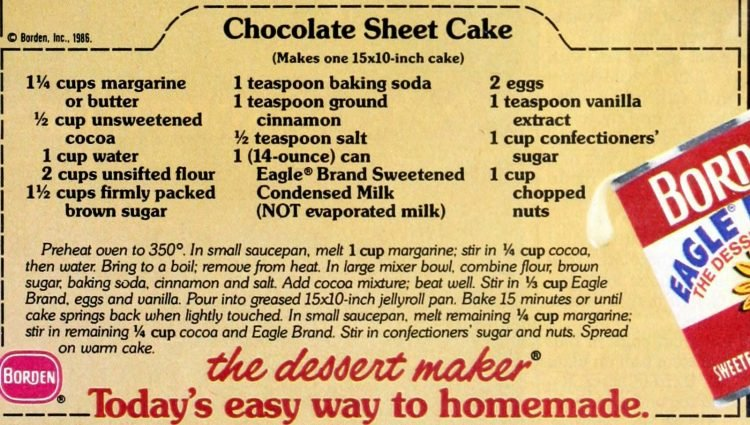 Chocolate Texas sheet cake recipe 1986 (3)