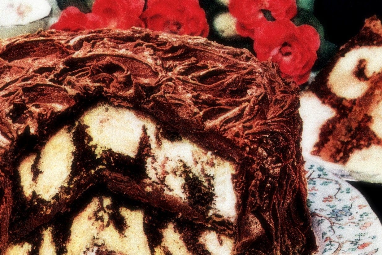 Chocolate Whirlaway cake A classic marbled cake recipe from 1950