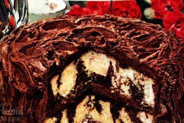 Chocolate Whirlaway cake recipe - food from Feb 1950-001