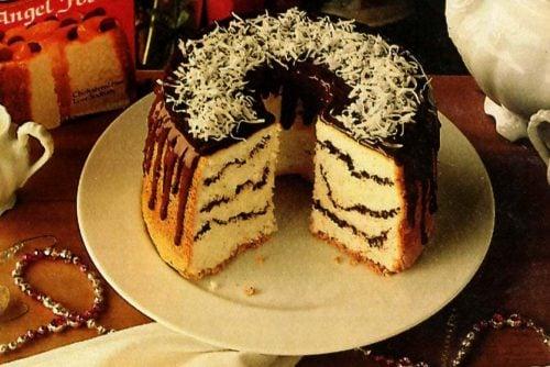 Chocolate angel swirl cake recipe (1986)