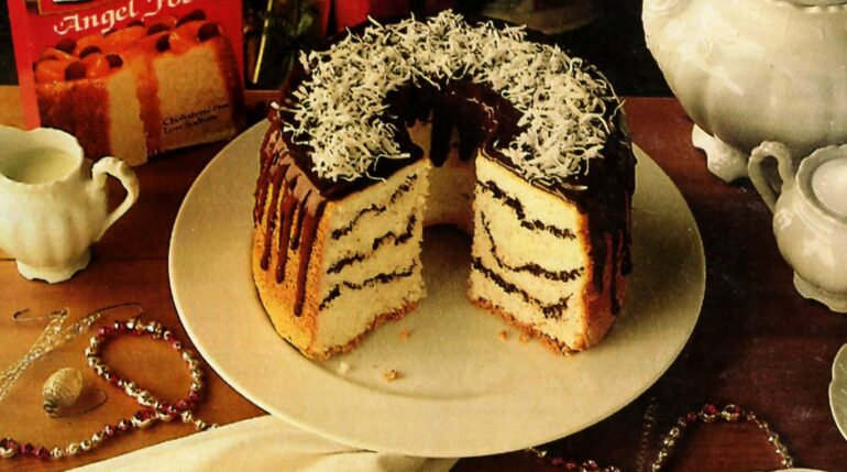 Chocolate angel swirl cake recipe (1986)