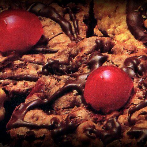 Chocolate cherry brownies recipe (1987)