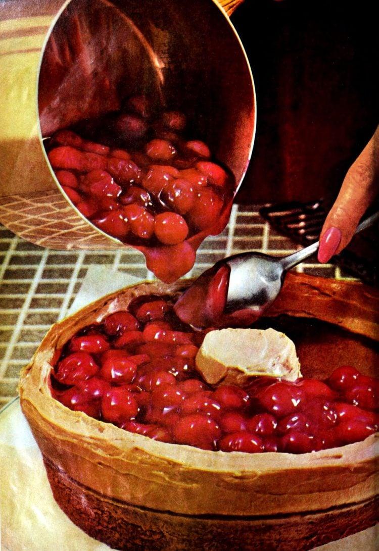 Chocolate-cherry torte - Vintage dessert recipe from 1966 (2)