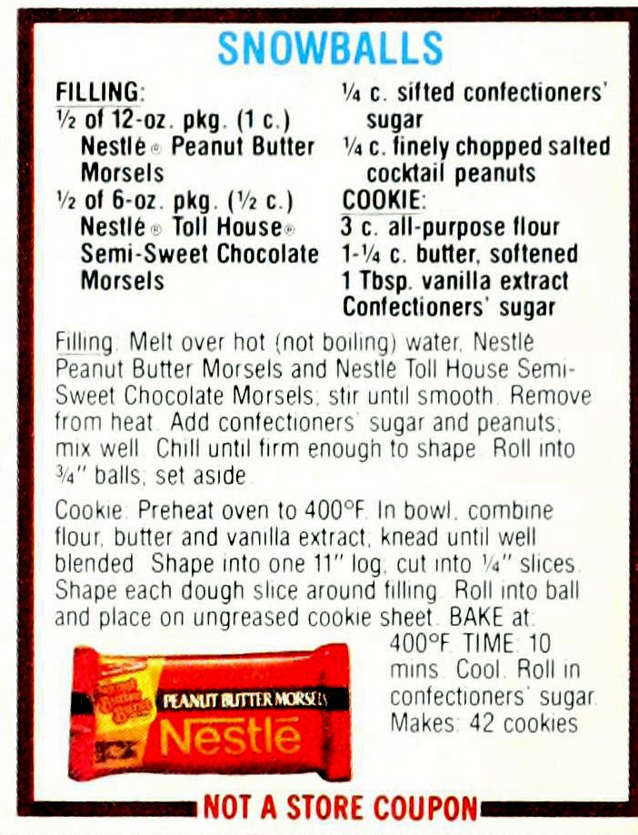 Chocolate cookie recipes from 1985 (1)