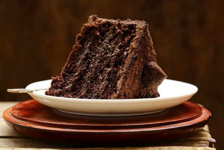 Chocolate layer cake with frosting