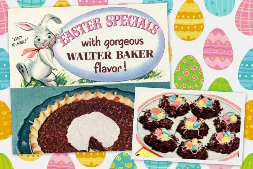 Chocolate pecan pie for Easter A retro 50s recipe